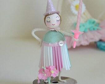 Gesponnen Baumwolle Ornament / Geburtstag Ornament / Retro-Stil / gesponnen Baumwolle Mädchen