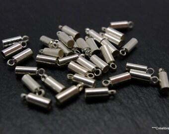 lot 20 caps silver 9 x 3 mm