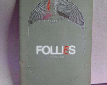 Folies Londres 1987 programme - Programme Souvenir de Stephen Sondheim - Diana Rigg, Julia McKenzie, Daniel Massey, Dolores Gray - folies