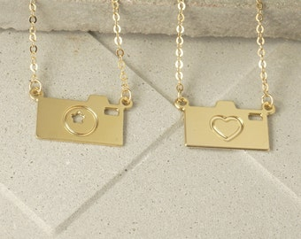 Gold charm necklace, Camera Necklace, Gold camera necklace, Dainty charm necklace, Dainty gold necklace, Dainty necklace, Gold necklace