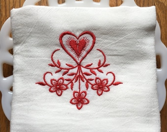 Heart Valentine's Day Tea Towel