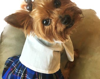 Dog uniforms/ Back to school dog clothes/ Back to school Dog costume/ Dog school uniform/ Uniforms for dog girls