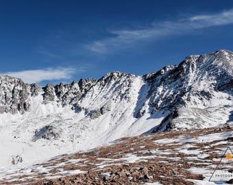Snow Dusted Peaks Print