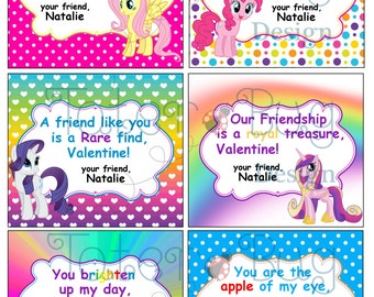 My Little Pony Valentines (Instant Download)