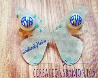 Monogram pearl earrings. Monogram Earrings. Personalized Jewelry. Personalized Earrings. Bridesmaids gifts. Best gift for her. 11mm