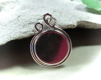 Tear Drop Pendant Bezel Cup Setting Sterling Silver - Necklace Blank,