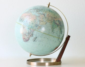 Vintage Replogle Globe,  Better Homes and Gardens Edition, Mid Century Modern Style