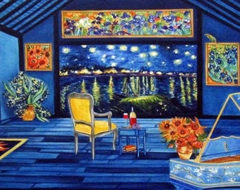 Art Print, van Gogh Print, Vincent van Gogh, Starry Night, Sunflowers Print, Fine Art Print