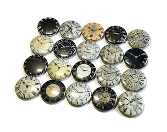 """Old Clock Magnet, 1"""", 1.5"""", Around the Clock, Wonderland Magnet, Old Clock Party Favor, Wedding Decor, Antique Clock Face, New Years Theme"""