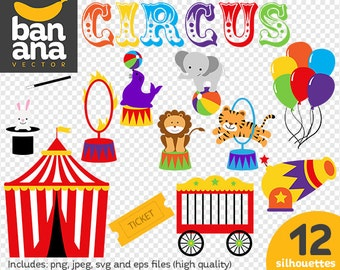 SALE Circus Clipart png jpg svg eps files high resolution BV-CO-0008