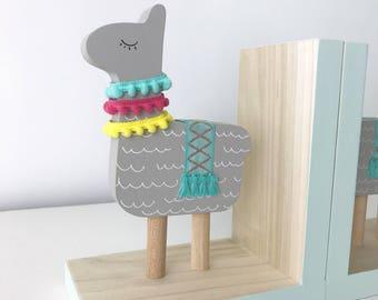 Llama Bookends, Llama Nursery Decor, Llama Kids Decor, Alpaca Kids, Llama Gifts, Llama Decor , Llama Baby Shower, Llama Baby, Alpaca Decor