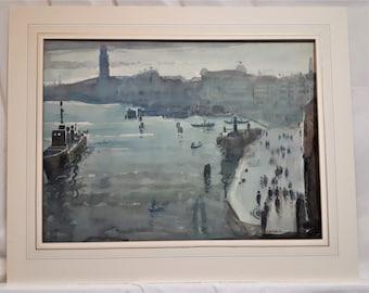 Arthur Knighton Hammond (1875-1970) original watercolour painting Venice English listed artist traveller new home Mother Father art gift
