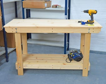 5FT Wooden Workbench  | Handmade | VERY STRONG & STURDY | Next Day Delivery | Top Quality!