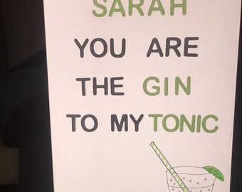 The Gin to My Tonic