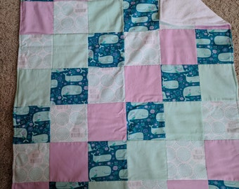 baby blanket with minky back