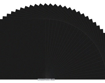 25 Sheets Black Paper 8.5 x 11 Inches - Double Sided - for Scrapbooks, Journals, Paper Crafts, Cutting, Handmade Envelopes