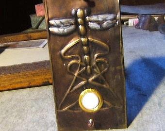 Art Nouveau Dragonfly Doorbell