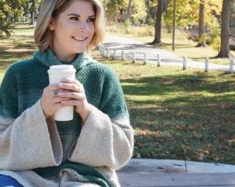Crochet Poncho Pattern, Easy Crochet Sweater Pattern, Beginner Crochet Pattern, Easy Sweater Pattern, Downloadable PDF