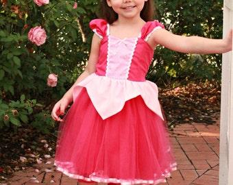 SLEEPING BEAUTY   dress  pink Princess dress with  TUTU dress  Sleeping Beauty costume