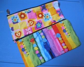 Cloth Zippered Pencil Case/School Supplies/ Pencil Case/Makeup Bag/Toiletrie Bags/Travel Case