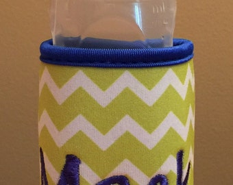 Personalized Baby Bottle Holder - Monogrammed Baby Bottle Holder - Bottle Holder - Monogrammed Bottle Wrap - Baby Gift