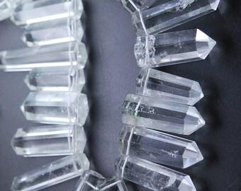 10 pcs,New Rock Crystal Quartz Faceted Fancy Point Shape,20-22mm Long,