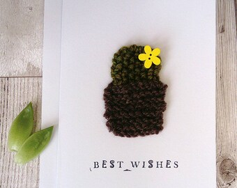 Cactus card; removable cactus magnet; cactus gift; cactus birthday card; eco friendly gift; cactus accessory , unique card