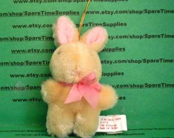 "Stuffed Bunny - approx 3 1/2"" - beige - 1 pc - Darice - #1604-80"
