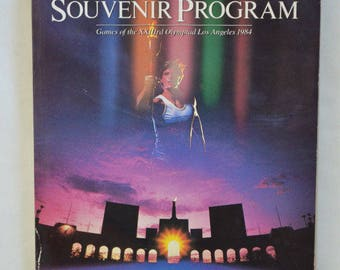 Games of the XXIIIrd Olympiad Los Angeles 1984: Official Olympic Souvenir Program w/ Coke Advertising