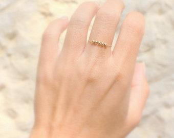 Thin Gold  Ring -  14K Rose Gold fill stacking ring / Delicate Gold ring / Thin Rose Gold Rings / Dainty Gold Ring