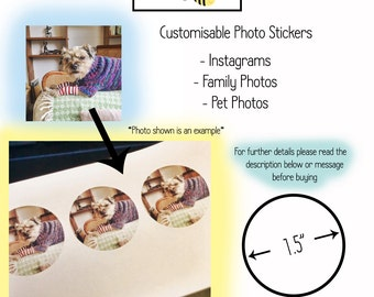 Customisable Photo Stickers