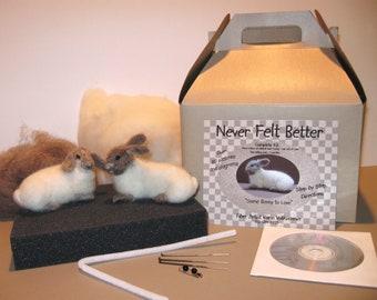 Bunny Needle Felting Kit