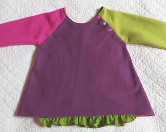 Sweatshirt fleece child multicolored 4/5 years