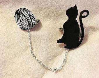 Cat Silhoutte Collar Clips