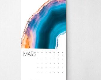 2018 Wall Calendar, 9.5 x 17.25, 2018 Calendar, Precious Stones  (cal0061)