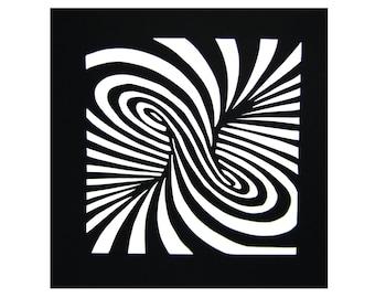Paper Cutting Art - Optical Illusion - Tournado - Funny - Cool