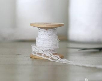 "5/8"" White Lace Trim/Ribbon - DIY/Wedding/Decor/Bridal Shower/Favors/Dream Catcher/Boho/Gift Packaging"