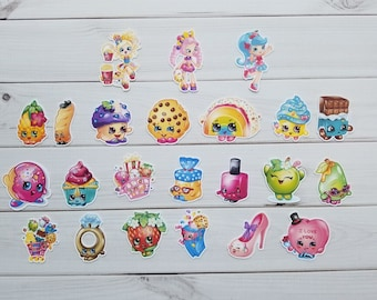 Shopkins Die Cuts, Punchies, Punches, Embellishments, Toppers, Decor, Scrapbooking, Pocket Letters, Project Life, Party,