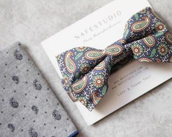 Men's Bow Tie Pre-tied Bow Tie For Men - Wedding Groom Bow Tie - Boho Bow Tie Rustic Bow Tie - Handmade Mens Gift Wedding Gifts