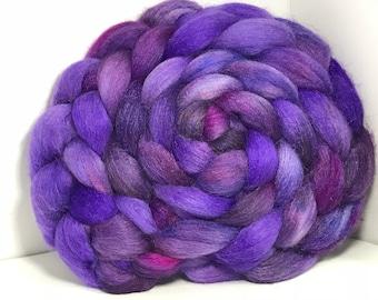 Merino/Baby Alpaca/Tussah 50/30/20 Spinning Fiber - 5oz - Lavender Fields 1