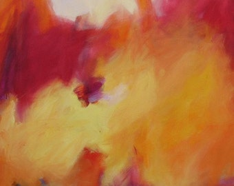 Mount of Venus GICLEE ART PRINT 11x17 romantic emotional abstract yellow rose red