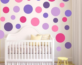 Pink and Purple Multi-Size Polka Dot Set