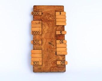 Late Victorian Hardwood Whist Marker
