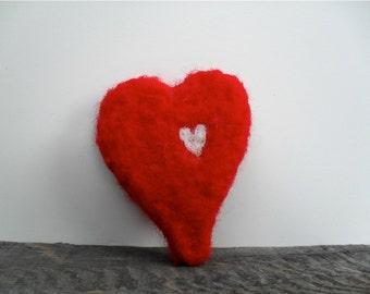 Cat toy catnip Heart, needle felted
