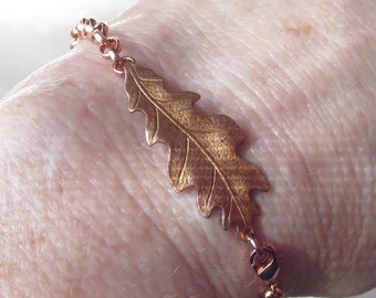 Copper Oak Leaf bracelet