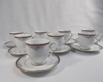 Noritake Ontario 8 Cups and Saucers