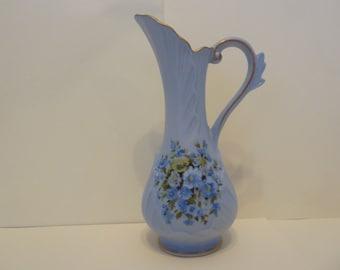 Pitcher, Blue / Green Floral