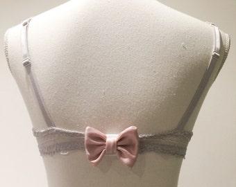 Cache-Staples bra SATIN powder pink bow