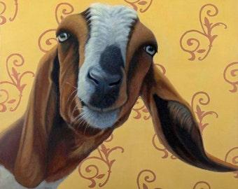 Goat Magnet - Boer Goat Magnet - Funny Goat Art - Proceeds Benefit Animal Charity