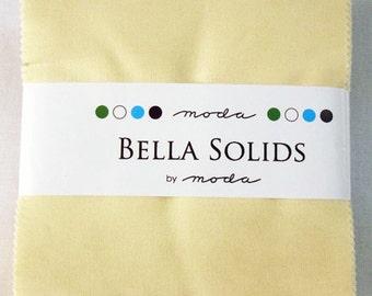 Moda  Bella Solids SNOW Charm Pack- (42) 5 inch